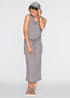 Длинное трикотажное платье с капюшоном • 599.0 грн • bonprix