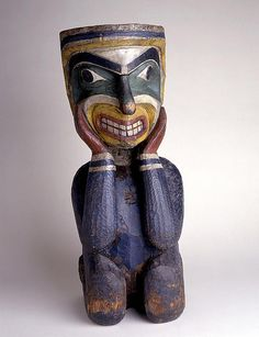 Carved and painted figure. Date and culture unspecified | Birmingham Museum and Art Gallery