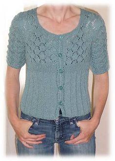 """Cardigan """"Hey, Teach!"""" - free pattern on Knitty"""
