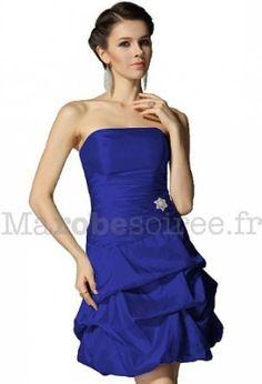 robe de soire cocktail mariage gala plis ballon 4001 bleu amazonfr vtements - Robe Bleu Electrique Mariage