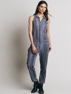 Free People Distressed Downtown Overall at Free People Clothing Boutique