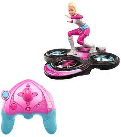Barbie Star Light Adventure Flying Remote Control Hoverboarder Doll