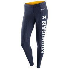Nike Michigan Wolverines Women's Navy Tailgate Leg-A-See Leggings