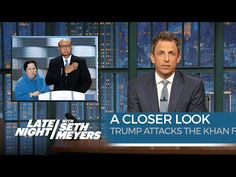Seth takes a closer look at Donald Trump's comments about the parents of a war veteran. » Subscribe to Late Night:…