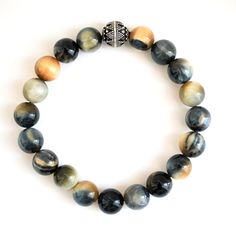 Image of Grey Tiger Eye Bracelet.  Love Wink & Bauble jewelry