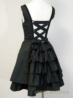 Rear view of a Miho Matsuda dress.