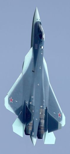 Sukhoi PAK FA Russia's new stealth plane clearly shows new shark camouflage Military Jets, Military Weapons, Air Fighter, Fighter Jets, Photo Avion, Russian Fighter, Russian Plane, New Shark, Sukhoi