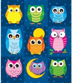 Colorful Owls Prize Pack Stickers - Carson Dellosa Publishing Education Supplies