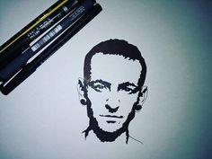Chester bennington lp #drawing  #chasterbennington #linkinpark @chesterbe
