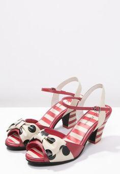 Lola Ramona ELSIE - Sandale - cream/black/red - Zalando.de