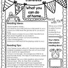 Great Back to School item to send home to parents. This one page flyer offers reading ideas and tips for how parents can incorporate reading into ...