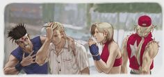 oe Higashi Andy Bogard Blue Mary Terry Bogard Official Art King of Fighters 2000 Art Of Fighting, Fighting Games, Terry Bogard Fatal Fury, Snk Games, Snk King Of Fighters, Video Game Characters, Fictional Characters, Anime Crossover, Street Fighter