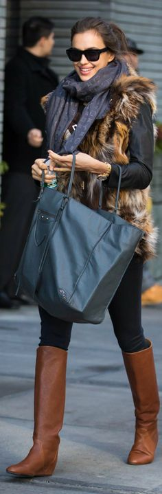 Irina Shayk  I have the boots, jacket and vest... now I just need to find the rest :)