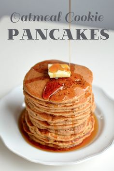 Oatmeal Cookie Pancakes - use gluten-free oat flour!