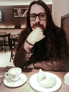 Coffee longhair beard glasses