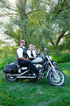 Who said you can't have a Shabby chic/Harley Davidson wedding! Well we made it happen!