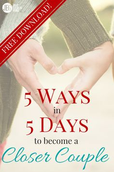 Here's a fun challenge to do with your spouse! This 5-day resource will help you discover how to enrich your marriage by looking at the lives of notable couples in the Bible.