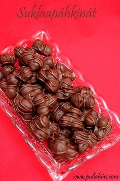 Pullahiiren leivontanurkka: Joulukalenterin luukku 18: Suklaapähkinät Dream Recipe, Almond, Keto, Favorite Recipes, Sweets, Candy, Chocolate, Desserts, Christmas