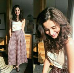 Imaginez les styles adorables d& Bhatt Western Dresses, Western Outfits, Indian Outfits, Fashion Mode, Look Fashion, Indian Fashion, Fashion Fashion, Retro Fashion, Korean Fashion