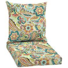 Hampton Bay Jovie 2-Piece Outdoor Chair Cushion-JE12067B-D9D1 - The Home Depot
