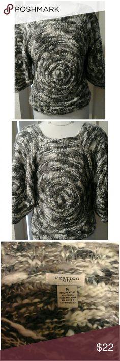 Cutest & Cozy Sweater This size Medium sweater is adorable.  Excellant condition.  Has peep holes throughout,  see photos. Thanks! Vertigo Paris Sweaters Crew & Scoop Necks