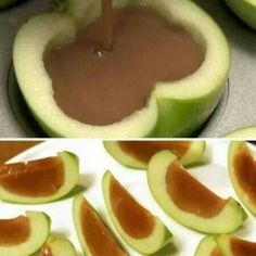 This would work great with the vegan caramel sauce I just pinned. It's on my Vegan dips and sauces board.  Can't wait to try it! I could also totally see myself filling these with a vegan chocolate/caramel mix!