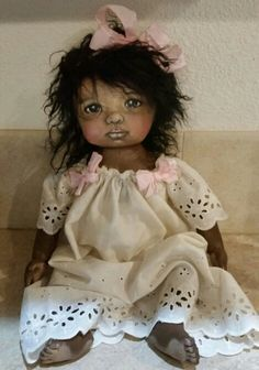 Sue sizemore painted all cloth art doll