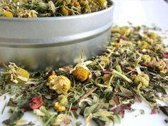 Sleep-well organic tea: Organic chamomile helps with sleep.