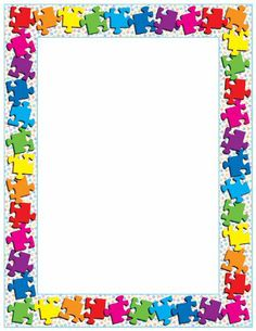 Frame Border Design, Boarder Designs, Page Borders Design, Photo Frame Design, Borders For Paper, Borders And Frames, Puzzle Pieces, Student Binder Covers, Back To School