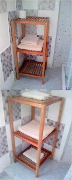 Learn Woodworking With These Simple Tips And Advice – EasyWoodworkingOnline Wooden Pallet Projects, Small Wood Projects, Wood Pallet Furniture, Wooden Pallets, Wooden Diy, Pallet Ideas, Furniture Ideas, Diy Projects, Pallet Bathroom
