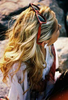 Blonde beach waves