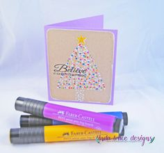 Dot it with Stamper's Big Brush Pens!  Can't get easier than this:)  By Linda Trace.