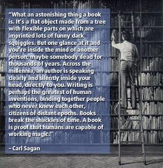 """What an astonishing thing a book is..."" -Carl Sagan [500x516] (A different take on it.) - Imgur"