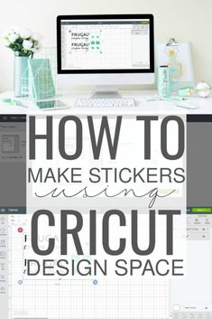 If youre looking for an easy tutorial on how to make stickers using the Cricut machine then youre in the right place. I will simplify the process so you can focus on your creativity. Continue reading this easy step-by-step tutorial. How To Use Cricut, Cricut Help, How To Make Stickers, Diy Stickers, Making Stickers, Cricut Monogram, Cricut Vinyl, Cricut Air 2, Monogram Stickers