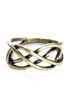 Antiqued gold infinity ring