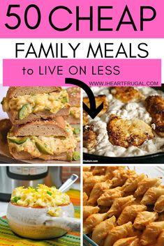 Cheap Paleo Meals, Cheap Family Meals, Cheap Easy Meals, Cheap Dinners, Frugal Meals, Budget Meals, Healthy Dinner Recipes, Cheap Recipes, Frugal Recipes