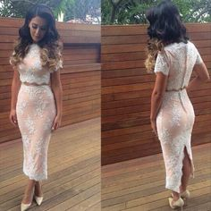 >> Click to Buy << New Fashion Sexy Club vestiods Dress 2Pieces Bodycon Party Bandage Dress Bodysuit Lace Wedding Evening Women Elegant Dress w/Zip #Affiliate