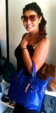 Jennifer Gimenez actress/former supermodel with the Paulette Tote
