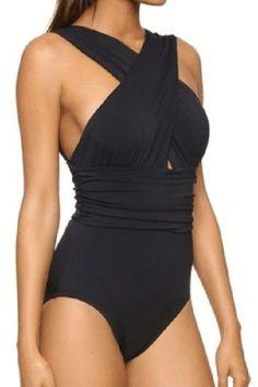 Cupshe Deep Feelings Cross One-piece Swimsuit