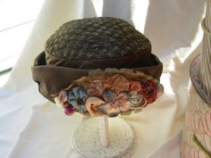 Tweed Straw Antique Hat by FrouFrou4YouYou on Etsy, $45.00
