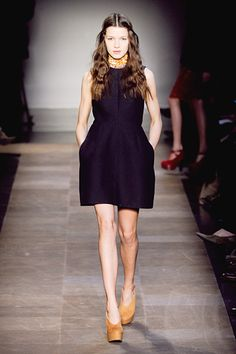 Love the shape of this dress.  #Carven #Paris #FashionWeek