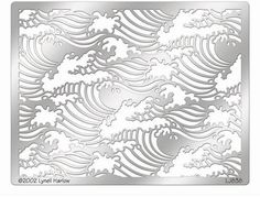 Stampendous - Metal Stencil - Waves: You're going to have an ocean of fun with the Waves Metal Stencil by Lynell Harlow for Stampendous. Included in the package is one x high quality stainless steel Wave Stencil, Horse Stencil, Star Stencil, Stencil Templates, Stencil Designs, Cool Stencils, Metal Embossing, Card Making Supplies, Wave Pattern