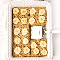Breakfast doesn't get much easier than this Peanut Butter Banana Baked Oatmeal! Whip up a batch and store it in the fridge or freezer for a quick and easy breakfast throughout the week! Healthy Make Ahead Breakfast, Quick And Easy Breakfast, Breakfast Ideas, Breakfast Time, Baked Oatmeal Cups, Baked Oatmeal Recipes, Oatmeal Diet, Baked Oats, Lactation Recipes