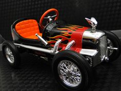 Pedal Car Race Sport Vintage Hot Rod F1 Indy Rare Midget Racer Show Model