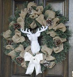 Burlap Christmas Wreath Christmas wreath by theembellishedhome, $125.00