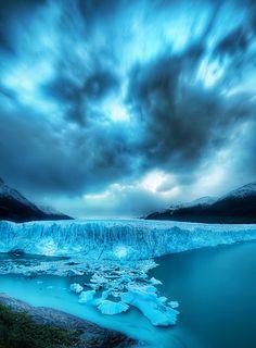 """""""The Massive Glacier at Dusk"""" ~ Perito Moreno Glacier, Los Glaciares National Park, El Calafate,  Argentina"""