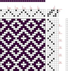 Hand Weaving Draft: Rosepath 1, Drafted on Pixieloom, 4S, 6T - Handweaving.net Hand Weaving and Draft Archive