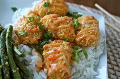 Mrs. Schwartz's Kitchen: Baked Bang Bang Chicken and Sweet Ginger Garlic Green Beans