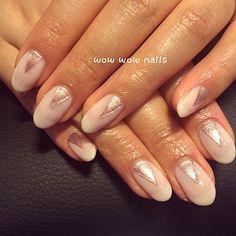 Mihee's nail design! #rosegold #shellac #gelpolish #nailart #naildesign #nailgasm #nailporn #nailsdid #nailjunkie #fashion #beauty #geometricnails #geonaildesign #wowwownails #toronto #notd