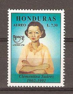 Clementina Suárez (Juticalpa, Olancho, 1902-1991) Desde niña manifestó su clara vocación de poeta. En 1930 publicó Corazón Sangrante, el primer libro de poemas de una mujer hondureña. http://old.latribuna.hn/2010/05/09/biografia-clementina-suarez/